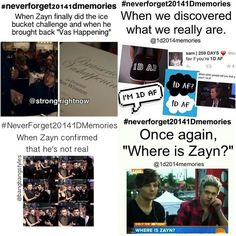 #NeverForget20141DMemories