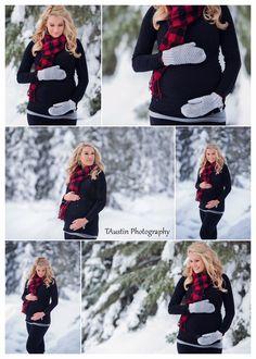 Winter Snow Maternity Photos TAustin Photography 12