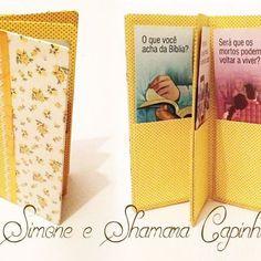 Porta folhetos com quatro bolsos super delicado 💛💛💛 #folhetos #feitoamao #cute #amarelo #flores #pregacao #regularpioneer #pioneiros #brasil #jw #boasnovas
