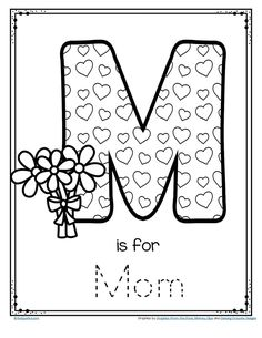 FREE A quick and easy activity for Mother's Day for preschool and Kindergarten. Trace and decorate or color a letter M poster. fathers day ideas for dad, fathers day picnic, mothers day cards Mothers Day Crafts Preschool, Easy Mother's Day Crafts, Fathers Day Crafts, Preschool Crafts, Kids Crafts, Preschool Kindergarten, Crafts Cheap, Yarn Crafts, Mothers Day Poster