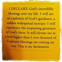 God's incredible blessings