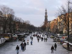 I wish I had a river I could skate away on. Amsterdam frozen canals 2012