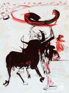 """Bullfight #2"". Salvador Dali"