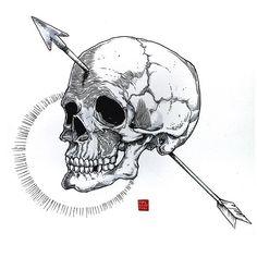 Arrow and Skull (Tomada con Instagram)
