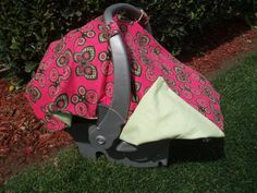 Baby Car Seat Cover Girl Butterflies by JaclynsDesigns on Etsy, $25.00