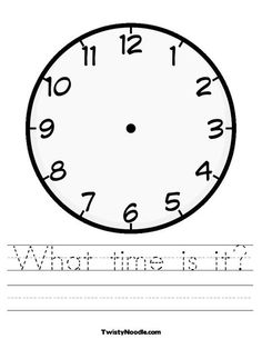 Blank clock faces blank clock clock faces and teacher blank clock worksheet pronofoot35fo Choice Image