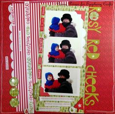 #christmas #scrapbook #layout created with the #epiphanycrafts Shape Studio Tools.
