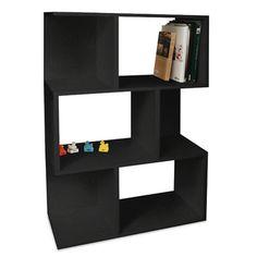 Way Basics Eco-Friendly Madison Bookcase in Black.  wayfair.com