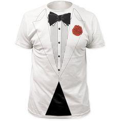 Impact Original Retro Basic Tuxedo T-shirt - White (X-Large)