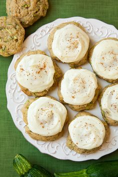 Zucchini Cookies with Cream Cheese Frosting - Cooking Classy