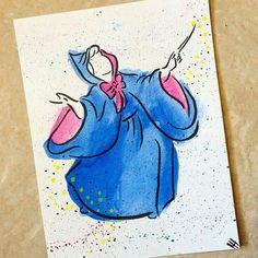 Fairy Godmother on KHPrincessClub - DeviantArt Deco Disney, Arte Disney, Disney Love, Disney Fan Art, Cute Disney Drawings, Disney Sketches, Cute Drawings, Cinderella Fairy Godmother, Cinderella Art