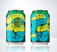 Brutal Brewing created this limited edition summer packaging. I'm loving the psychedelic, summer of '69 feel but I would never think its a beer can.