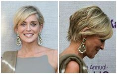 In this photo gallery, I show off gorgeous short hairstyles for women over 50 including bobs, the pixie, edgy cuts, shags and much more.: Side-swept Bangs