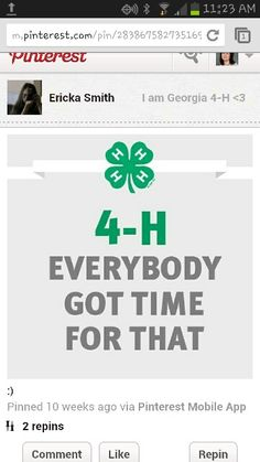 4H everybody got time for that!!:)