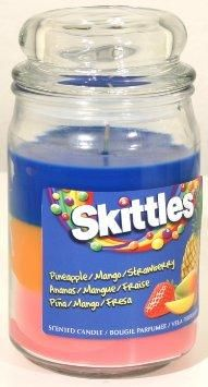 Tropical Scented Triple Poured Skittle Candle - 16oz Candle from Amazon. #skittes.