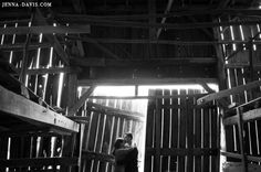 really cool photo inside the barn. Engagement Session.