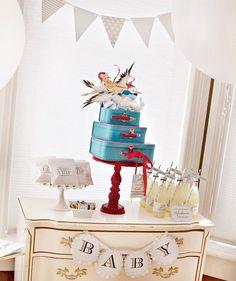 Fairytales Come True: Stork Express Airlines Baby Shower * Ένας πελαργός φέρνει το πάρτι!