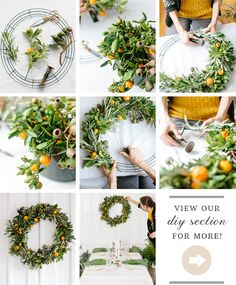 DIY orange & olive holiday wreath | concept & styling by Type A Society…