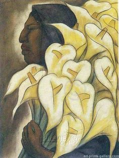 Face and lilies example Diego Rivera Art, Diego Rivera Frida Kahlo, Mexican Artists, Mexican Folk Art, Frida And Diego, Mural Painting, Paintings, West Art, Spanish Painters