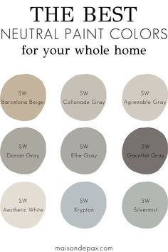 A paint color scheme for a whole house! See paint colors in real spaces in this home tour full of lovely, nature-inspired neutrals with touches of blues and greens. color Paint Color Home Tour: Nature-Inspired Neutrals - Maison de Pax Farmhouse Paint Colors, Kitchen Paint Colors, Paint Colors For Home, Magnolia Paint Colors, Rustic Paint Colors, Best Bedroom Paint Colors, Best Color For Bedroom, Paint Colors For Office, Home Paint Colors