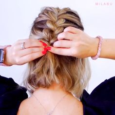 Diffirent Braiding Methods And Braided Hairstyles! , - - Diffirent Braiding Methods And Braided Hairstyles! Short Hair Styles Easy, Cute Hairstyles For Short Hair, Medium Hair Styles, Braided Hairstyles, Short Grunge Hair, Hair Upstyles, Hair Videos, Hair Looks, Hair Lengths