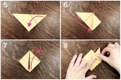 Learn how to make a cute little Origami Finger Puppet!: Origami Finger Puppet Tutorial - Step 2