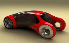 Peugeot Cub, Concept Car, Future Car,  blade runner spinner,  like blade runner flying car, Futuristic Car, red car, vehicle, auto, automobile