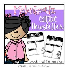 Collaborate more and keep parents in the know with this set of FREE editable newsletter templates in the fashionable Melonheadz theme. What is included? Kindergarten Newsletter, Classroom Newsletter, Teacher Newsletter, First Grade Homework, Parenting Strong Willed Child, Classroom Treats, Parent Teacher Conferences, Parent Communication, Teacher Organization