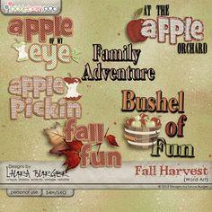 Fall Harvest Word Art