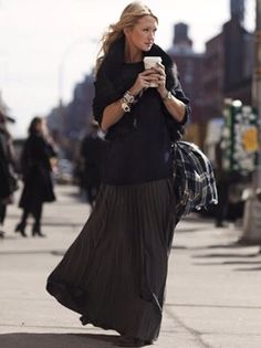 Maxi dress and sweater