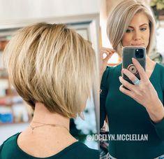 very short bob haircut Bob Haircut Curly, Bob Hairstyles For Fine Hair, Diy Hairstyles, Short Aline Haircuts, Short Aline Bob, Short Brown Hair, Short Hair Cuts, Langer Bob, Blonde Hair Looks