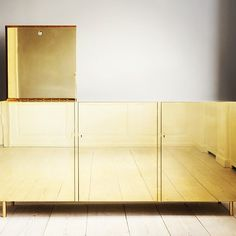 Exquisite handmade brass cabinet by Studioilse