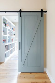 KITCHENS We loved getting to revisit an old client's home for a refresh and re-shoot! Barn Door Pantry, Wood Barn Door, Sliding Pantry Doors, Custom Pantry, Barn Door Designs, Interior Barn Doors, Farmhouse Interior Doors, Interior Door Styles, Pantry Design