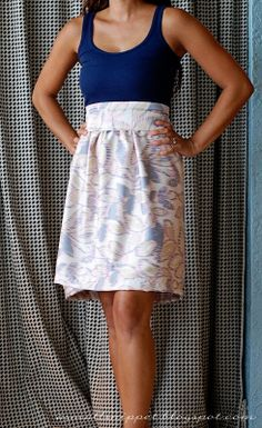 Great tutorial for short and maxi dress with a tank top. wanna make a dress?? | A Small Snippet