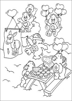 care bears coloring pages to print. Below is a collection of Care Bear Coloring . Bear Coloring Pages, Cartoon Coloring Pages, Coloring Pages To Print, Adult Coloring Pages, Coloring Pages For Kids, Coloring Books, Care Bears, Care Bear Tattoos, Doodle Characters