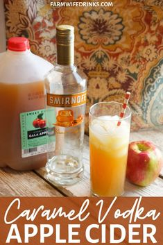 Caramel Vodka Apple Cider is the perfect fall cocktail with the smooth combinati. Caramel Vodka Apple Cider is the perfect fall cocktail with the smooth combinati. Apple Cider Alcohol, Spiked Apple Cider, Apple Cider Sangria, Cider Cocktails, Fall Cocktails, Hard Apple Cider, Carmel Apple Cider Recipe, Alcoholic Apple Cider Recipe, Apple Cider Mixed Drink