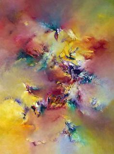 """""""Con aroma de mujer"""" - Gabriela Winicki - Oleo sobre tela - 120 cm x 90 cm - www.esencialismo.com"""