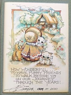 """Jody Bergsma Print """"How Wonderful To Have Friends"""" Signed 1334/2500"""