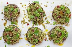 This is another one of my favourite dinner sides – delicious stuffed mushrooms with herbs and almonds perfect – for celebrating over the silly season!