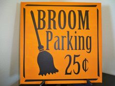 SALE Halloween Vinyl ONLY 2 design options Broom by GigglyGumdrops, $6.00