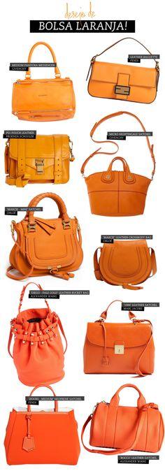 Na wishlist: bolsa laranja! - Chata de Galocha! | Lu Ferreira