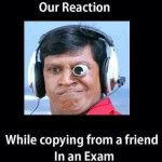 Copying Reaction in Exam