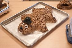 A wonderfully fun, creative Groundhog's Day Cocoa Crispy Dessert. #cute #food #holidays #Groundhog_Day