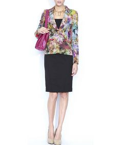 Take a look at this Nissa: Multi-Coloured Printed Blazer by Nissa on #zulily today!