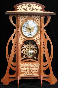 Glasgow clock, scroll saw fretwork pattern