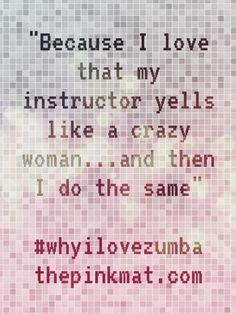 My Zumba instructor rocks!
