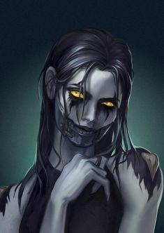 forsaken-Lyna-hesitated by lynadeathshaow on DeviantArt Demon Manga, Demon Art, Warcraft Art, World Of Warcraft, Arte Horror, Horror Art, Dark Fantasy Art, Fantasy Girl, Female Monster
