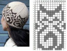 shap_kos (631x480, 184Kb) Loom Knit Hat, Crochet Beanie, Knitted Hats, Knit Crochet, Crochet Hats, Knit Vest Pattern, Knitting Patterns, Crochet Patterns, Filet Crochet