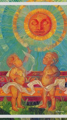O Sol É a carta que clareia, abre caminhos, traz uma energia luminosa, cheia de vitalidade. Este tipo de carta cai bem em qualquer lugar e em um sábado de Saturno, certamente suas emanações positivas serão benéficas para desenvolvimento de projetos e carreira profissional.
