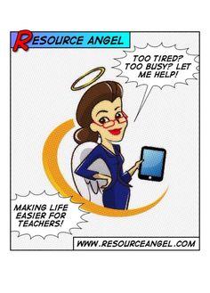 Resource angel. Making life easier for teachers.